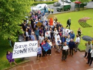 Brentwood residents held a demonstration in 2011 to keep the Town Hall