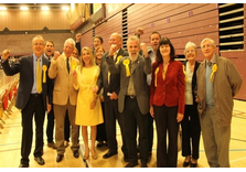 The Lib Dem team celebrate their FIVE wins! (Brentwood Gazette)