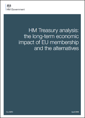 HM Treasury analysis: the long-term economic impact of EU membership and the alternatives