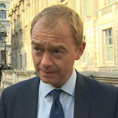 Tim Farron in Whitehall