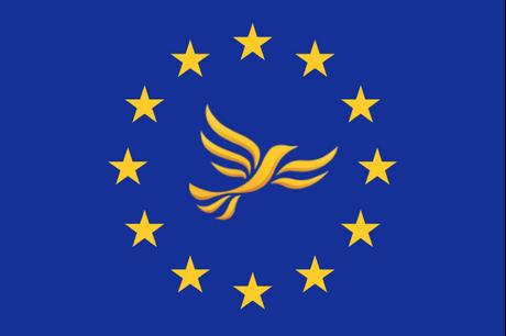 EU flag & bird of liberty
