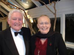 Cllr Derek Hardy and 2008 candidate Jackie Anslow at the recent Civic Dinner
