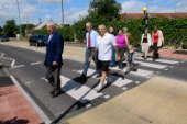 Cllrs Aspinell and Kendall on the new crossing with residents