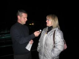 Linda after the count with Phoenix FM's Steve Mead