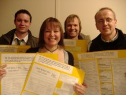 The Liberal Democrat team with their petition