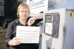 CHARGES: Nigel Clarke is against the car parking charges increase. Picture by Martin Dalton