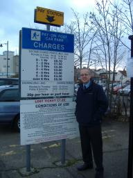 Cllr David Kendall asked for a freeze on car parking charges