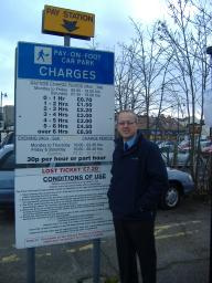 Cllr David Kendall has asked for a freeze on car parking charges
