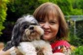Cllr Karen Chilvers and her dog, Quincy