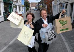 Cllr Karen Chilvers and Nigel Clarke are committed to helping local independent traders