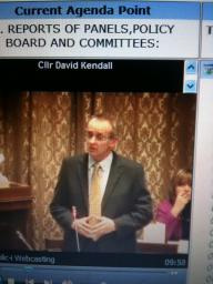Cllr David Kendall holding the administration to account