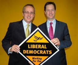 Cllr David Kendall with Nick Clegg MP, Leader of the Liberal Democrats