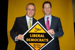Cllr David Kendall with Nick Clegg MP