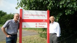 Cllr David Kendall and Warley campaigner Cyril Young at the centre