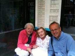 Cllr David Kendall chats to bus users in Brentwood High Street
