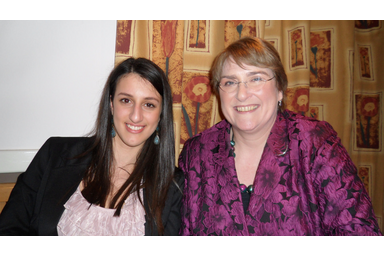 Baroness Sal Brinton with Kristiana Papi, one of our candidates for 2011