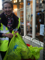 Cllr Vicky Davies at the Lighting Up Brentwood event
