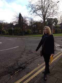 Liz Cohen reported this massive pothole in Shenfield town