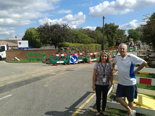 Cllr Liz Cohen with Brentwood First's Shenfield Cllr Phil Baker