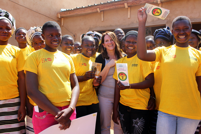 Last week International Development Minister Lynne Featherstone with girls in Zitenga village (Burkina Faso) who are free from FGM/C (Picture: Lindsay Mgbor/DFID. Published by DFID under a Creative Commons Licence http://creativecommons.org/licenses/by/2.0/)