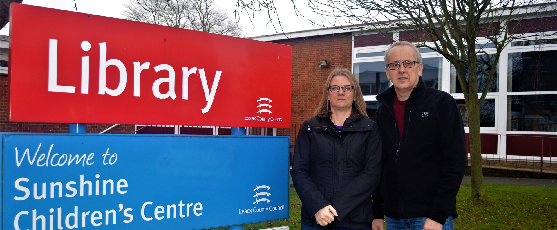 Sarah Cloke and Cllr David Kendall campaigning against Essex Library closures (Karen Chilvers)