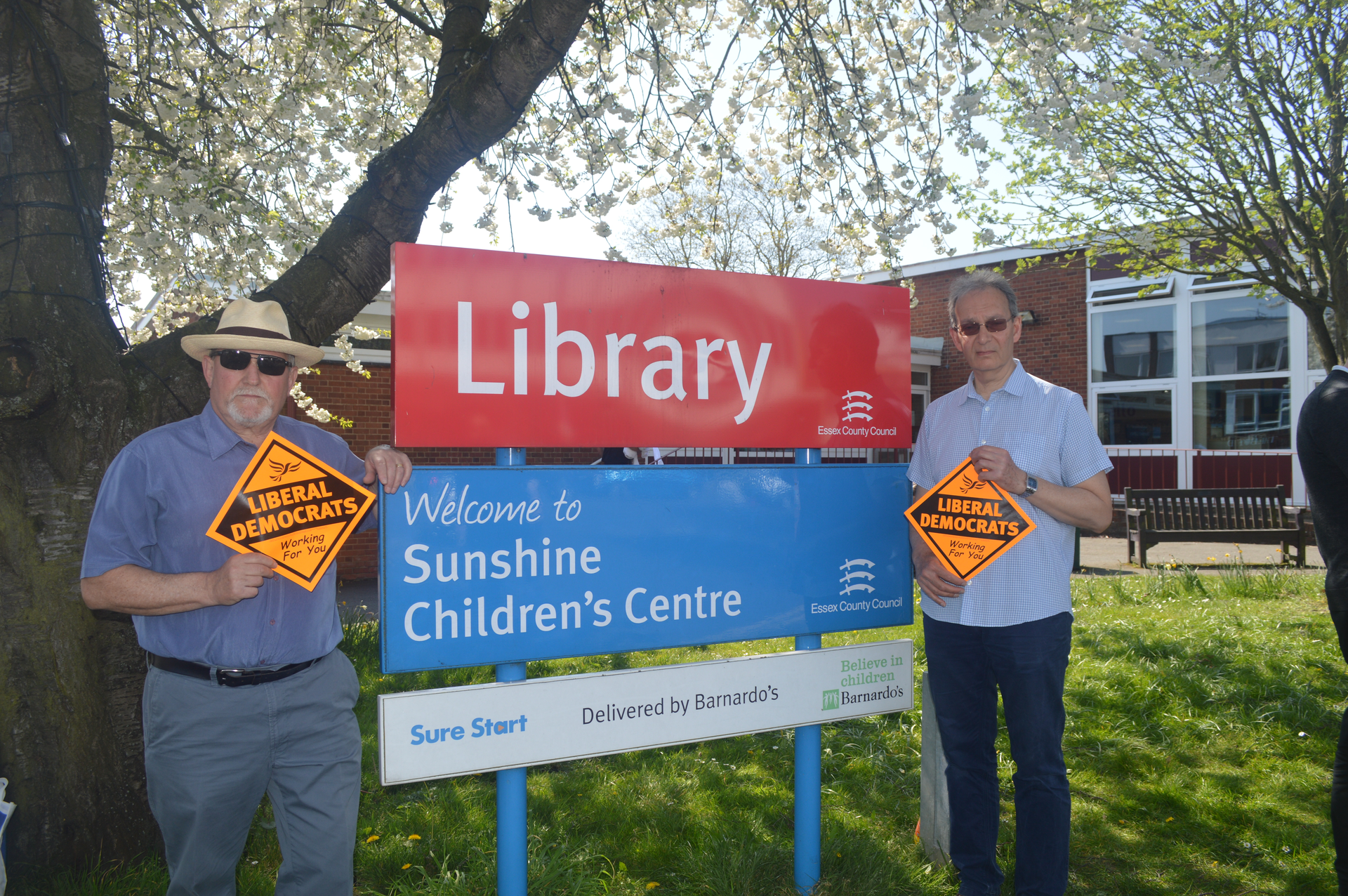 Andy Fryd and Darryl Sankey at Shenfield Library (Karen Chilvers)