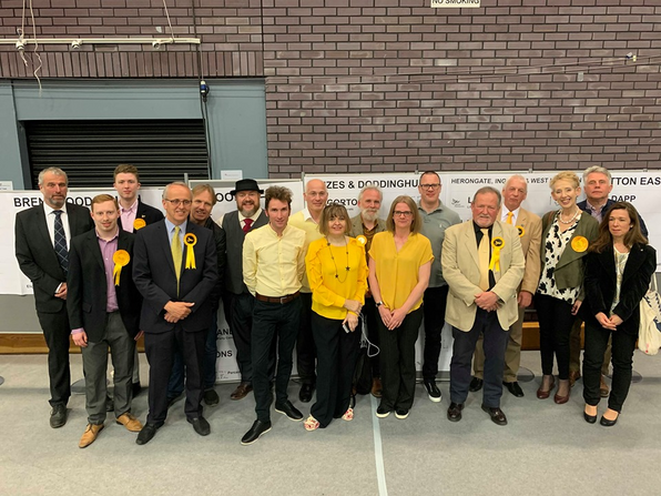 Lib Dems celebrating in Brentwood (Martin Cuthbert)