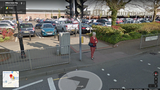 Crossing from M&S to Sainsbury's in Brentwood (Google Maps)