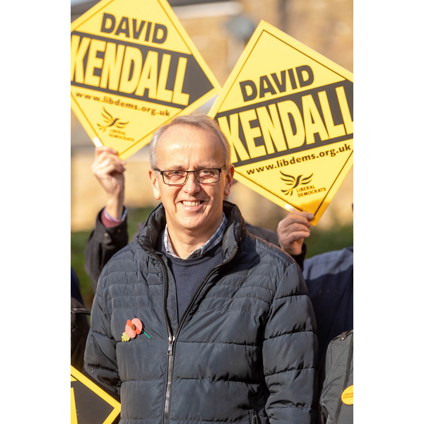David Kendall campaigning in Brentwood and Ongar November 2019