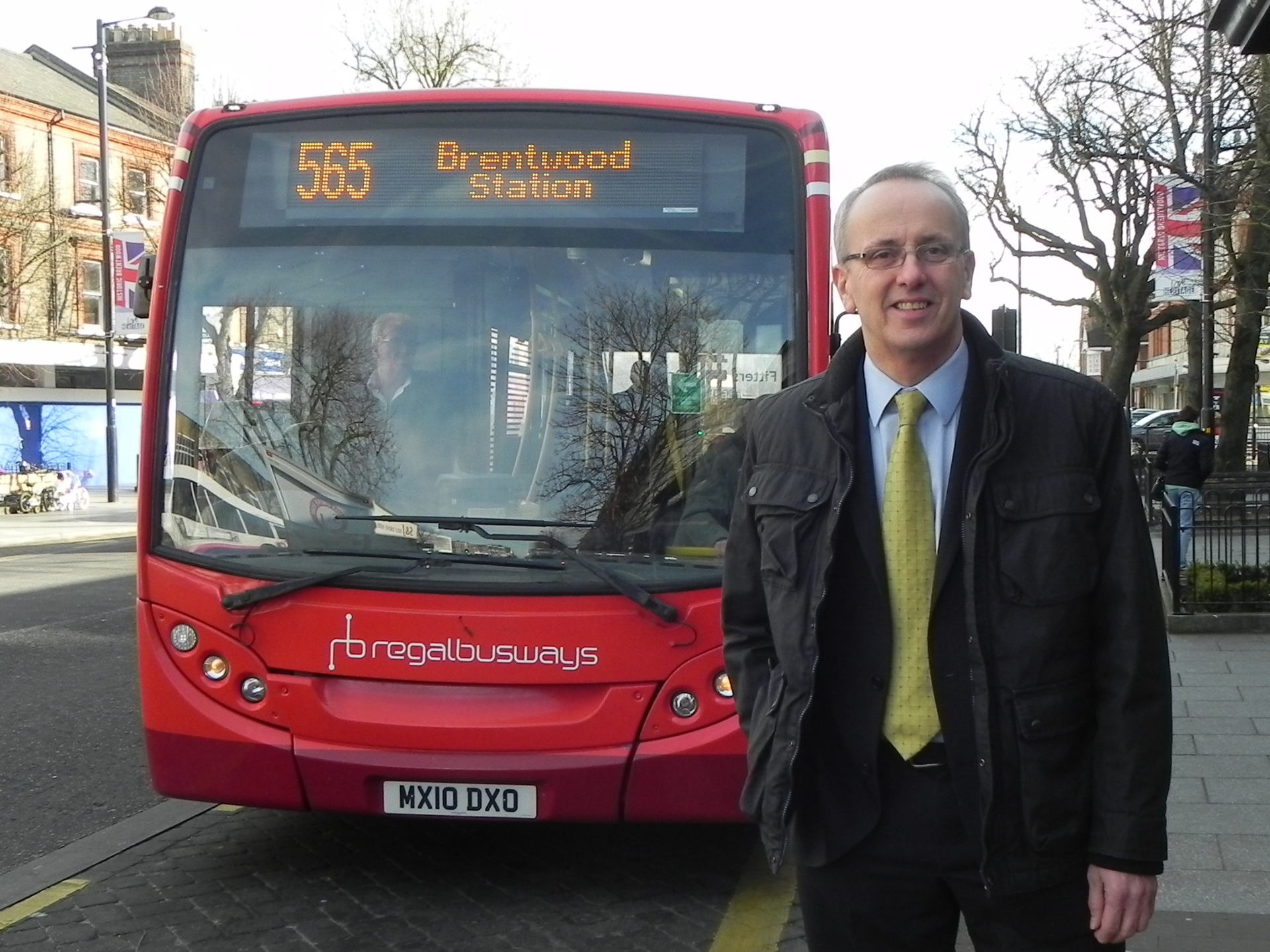 David Kendall campaigning in Brentwood for better transport