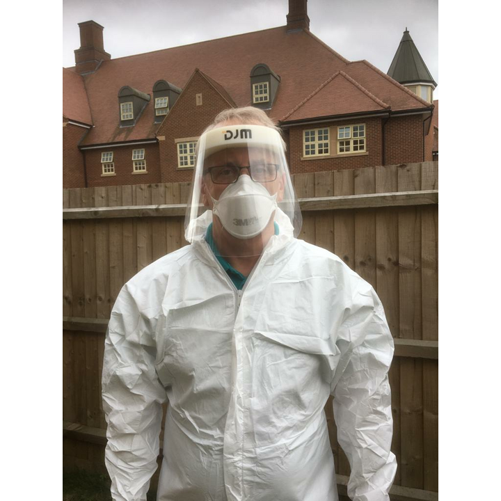Cllr David Kendall in full PPE